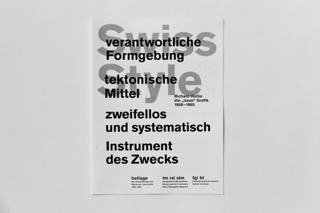 Swiss Style Booklet Cover