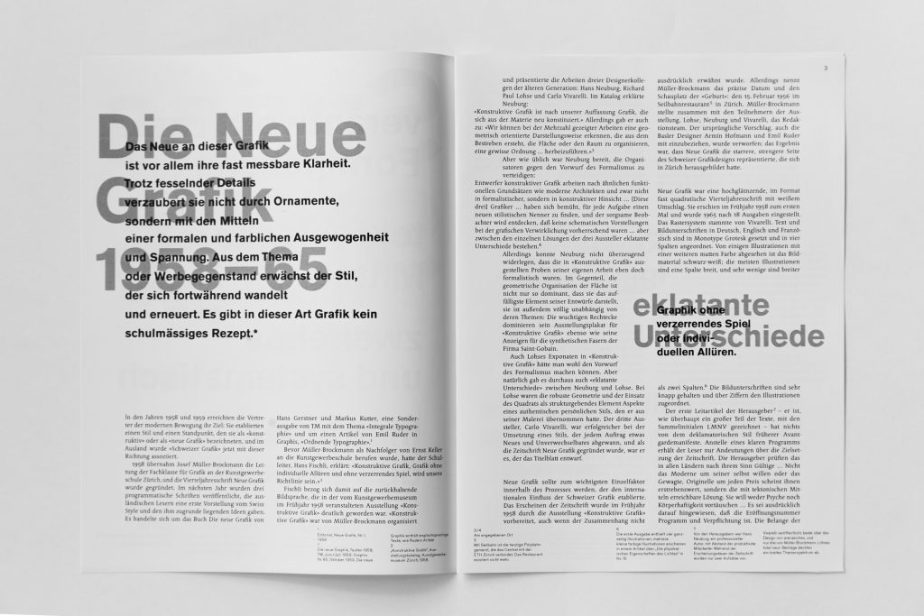 Swiss Style Booklet Page 1