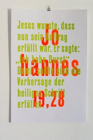 Johan 19,28 Letterpress Type Poster